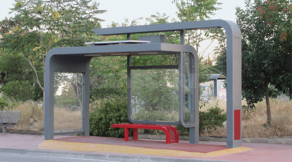 M Security Glass Bus Stop